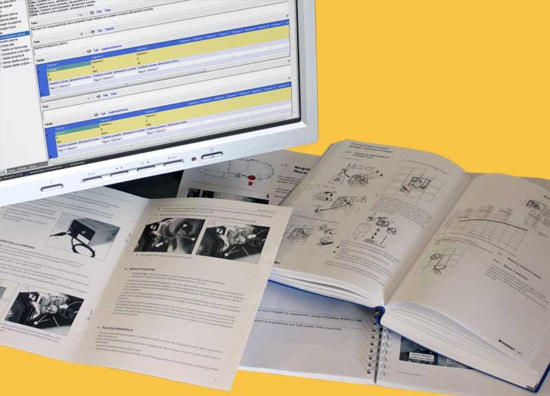 gestione e creazione manuali tecnici e manuali di uso e manutenzione