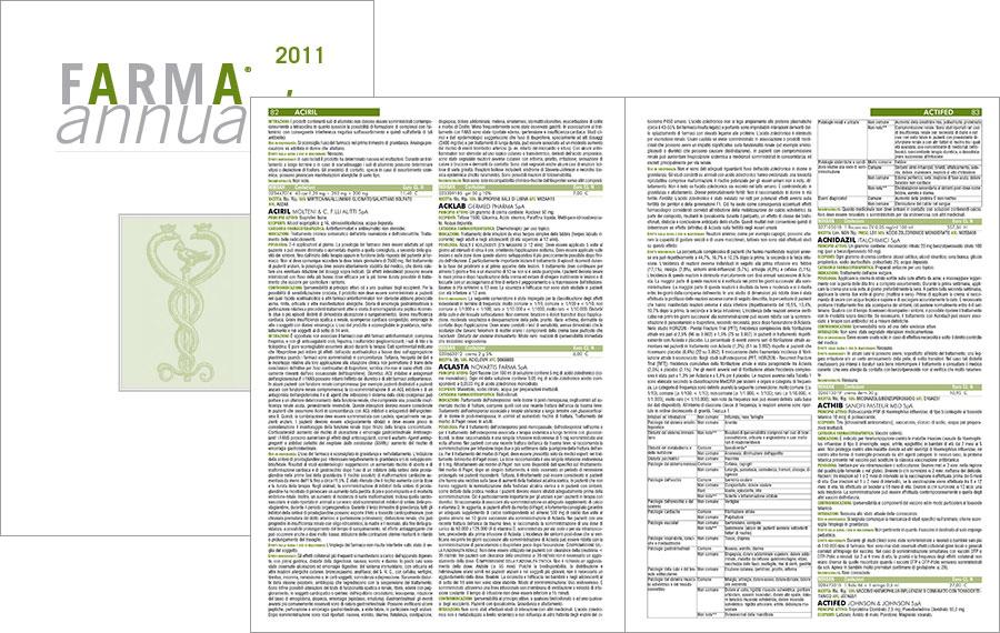 Impaginazione automatica annuario farmaceutico