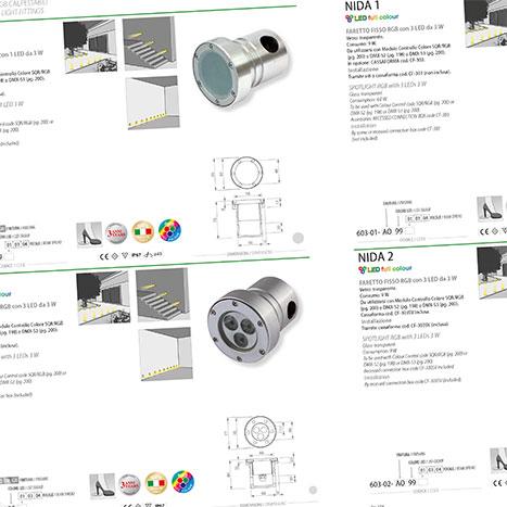 Impaginazione automatica catalogo illuminazione