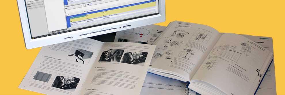 creazione e gestione manuali tecnice e manuali di uso e manutenzione