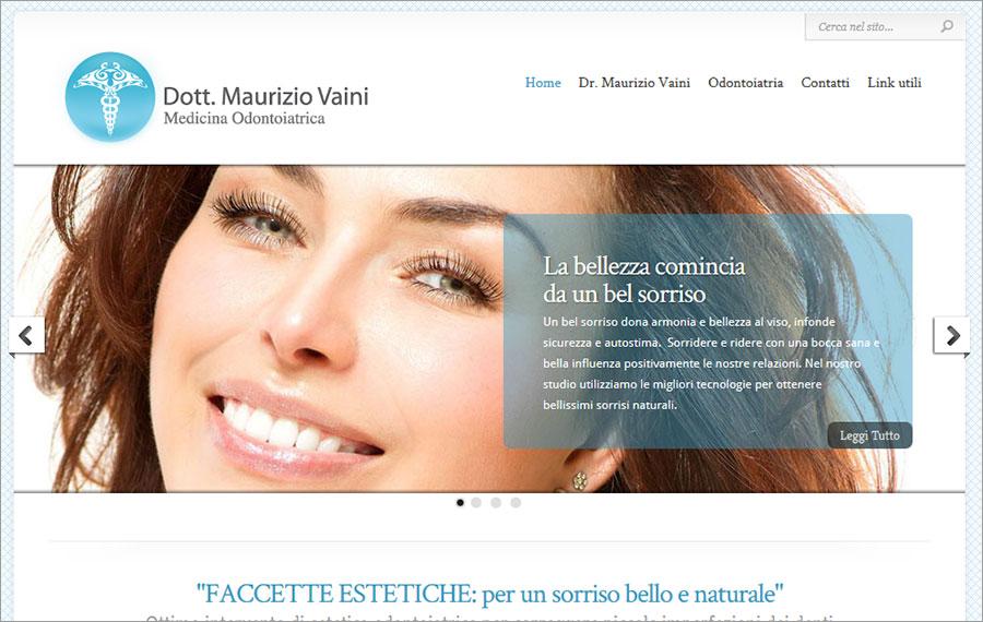 Creazione sito web studio dott. Vaini