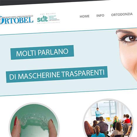 Sito web laboratorio ortodontico Ortobel